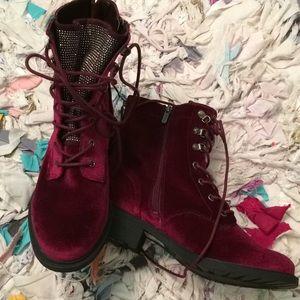 Sam Edelman Circus boots....burgundy velvet..sz 9